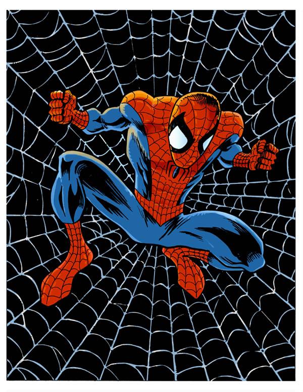 Spider-Man web color
