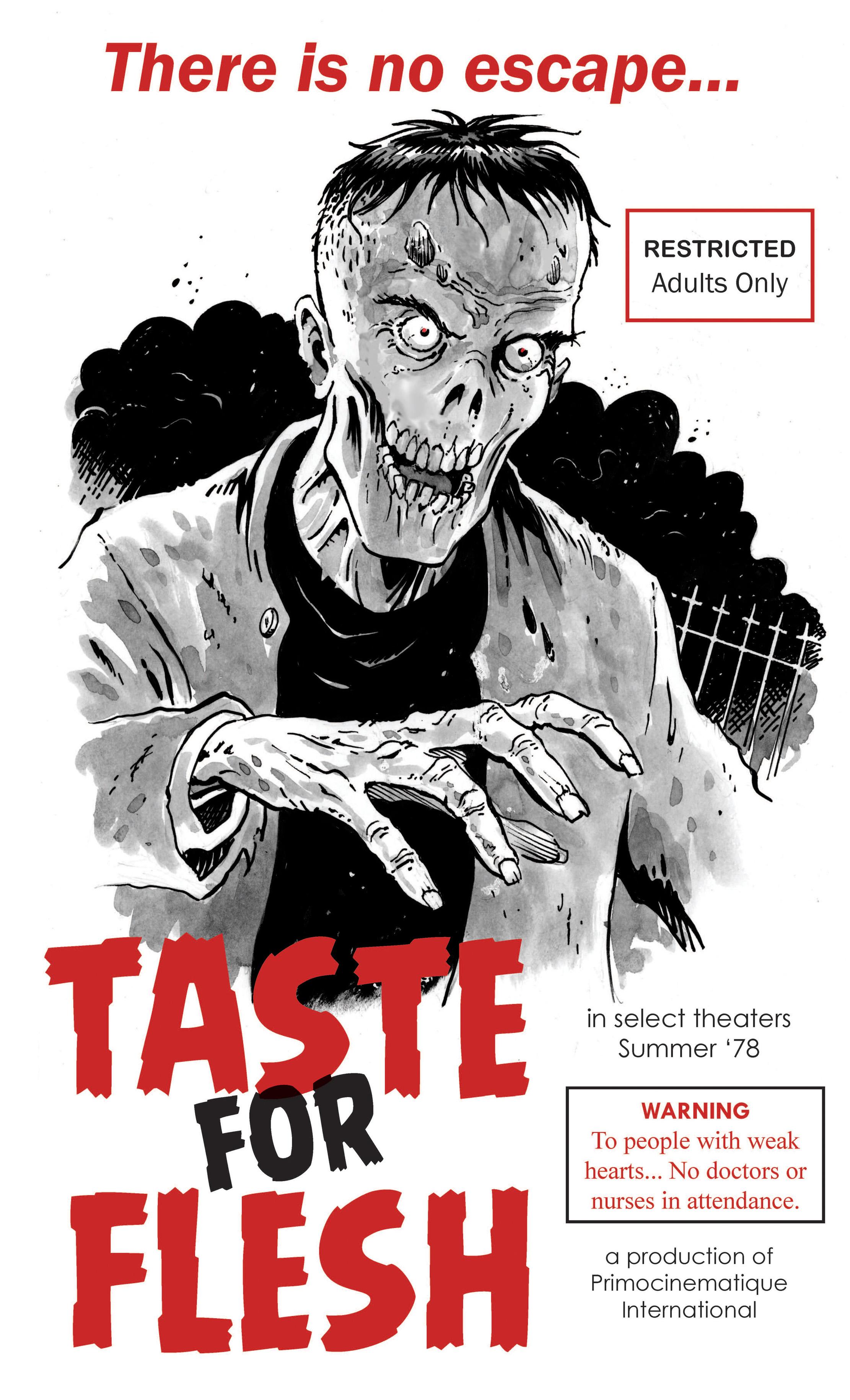 taste for flesh bmovie poster � comicartgreg