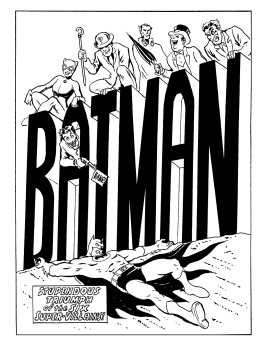 Batman cover recreation